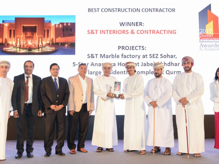 S&T Interiors recognised at Dossier Construction Infrastructure Awards