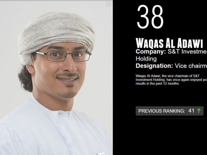 Waqas Al Adawi, vice chairman, S&T Group ranked #38 in CW Power 100 List, 2018