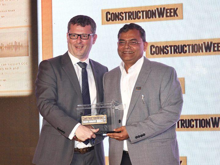 RP Ranganatha of S&T named 'Construction Executive of the Year' at Construction Week Oman Awards 2018